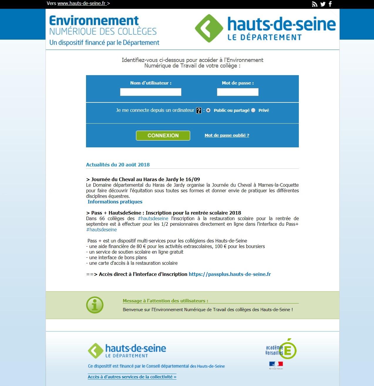enc92.fr Environnement Numérique Des Collèges De Haut De Seine France