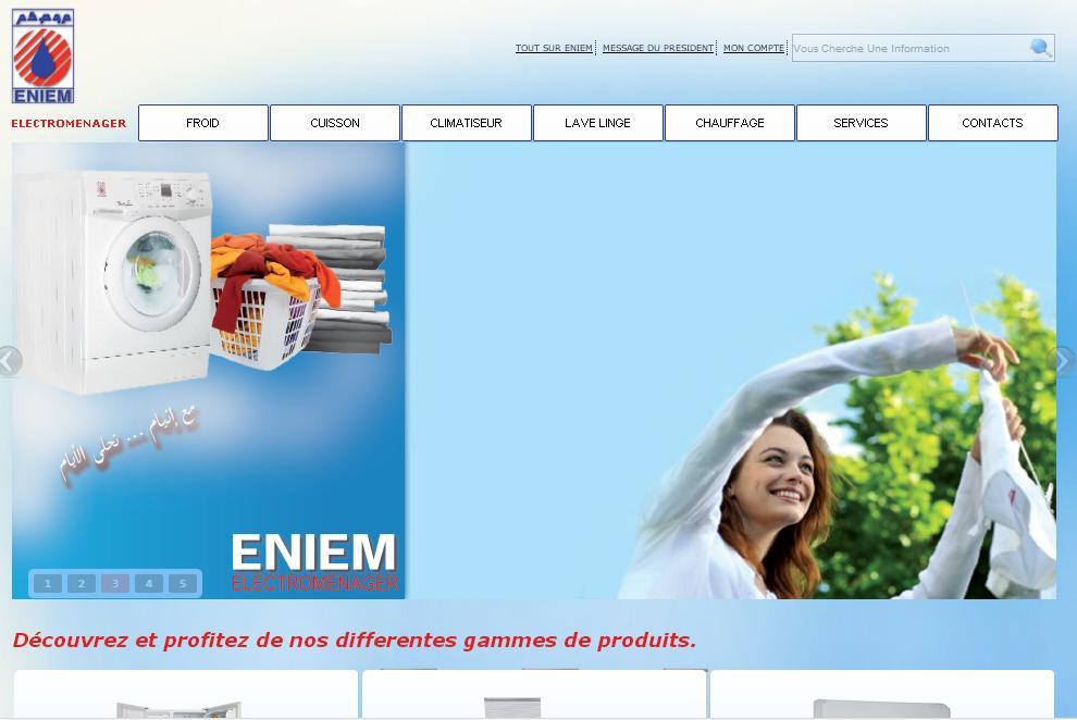 eniem.com.dz Electroménager énième Algérie magasin point de vente chauffage climatiseur cuisinère