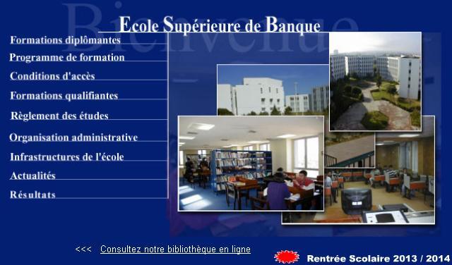 esb.edu.dz Ecole Supérieure de Banque Algérie