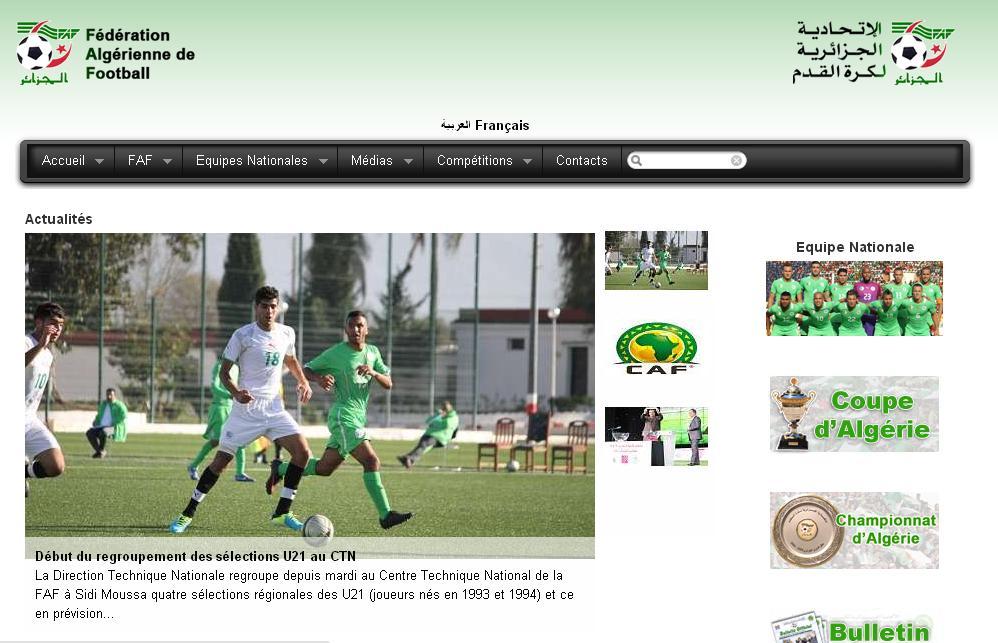 faf.dz Fédération algérienne de football