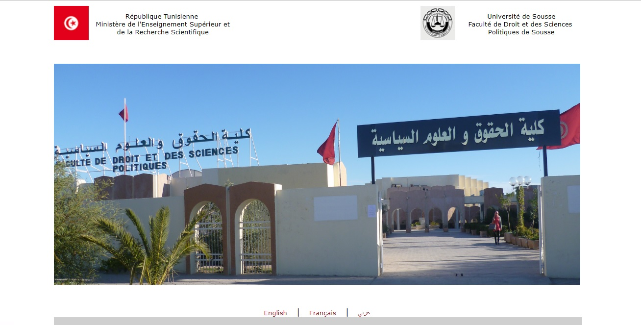 fdseps.rnu.tn Faculté de droit et des sciences politiques de Sousse Tunisie université du centre lmd master inscription