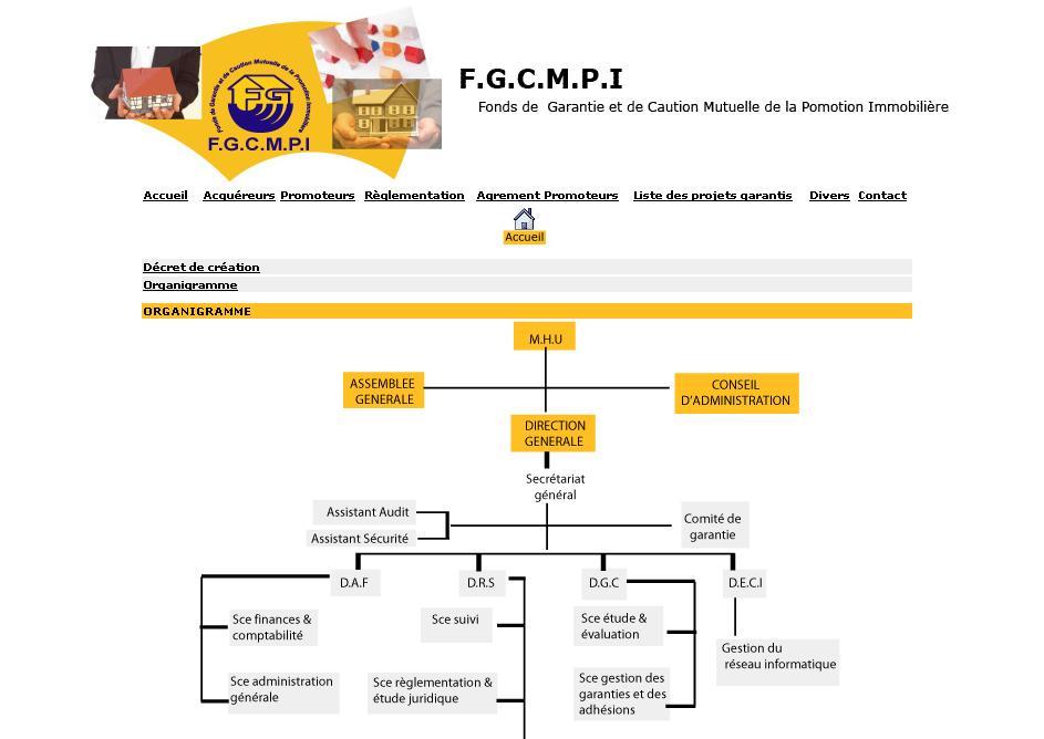 fgcmpi.org.dz Fonds de garantie et de caution mutuelle de la promotion immobilière Algérie promoteurs immobiliers logement