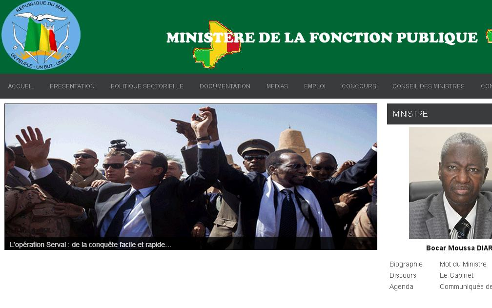 fonctionpublique.gouv.ml Concours Fonction Publique au Mali Emploi Recrutement Gov ml Education Nationale