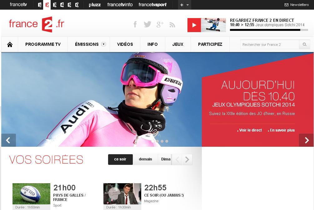 france2.fr Chaîne Tv France 2 emissions programme tv replay antenne 2 jt journal télématin