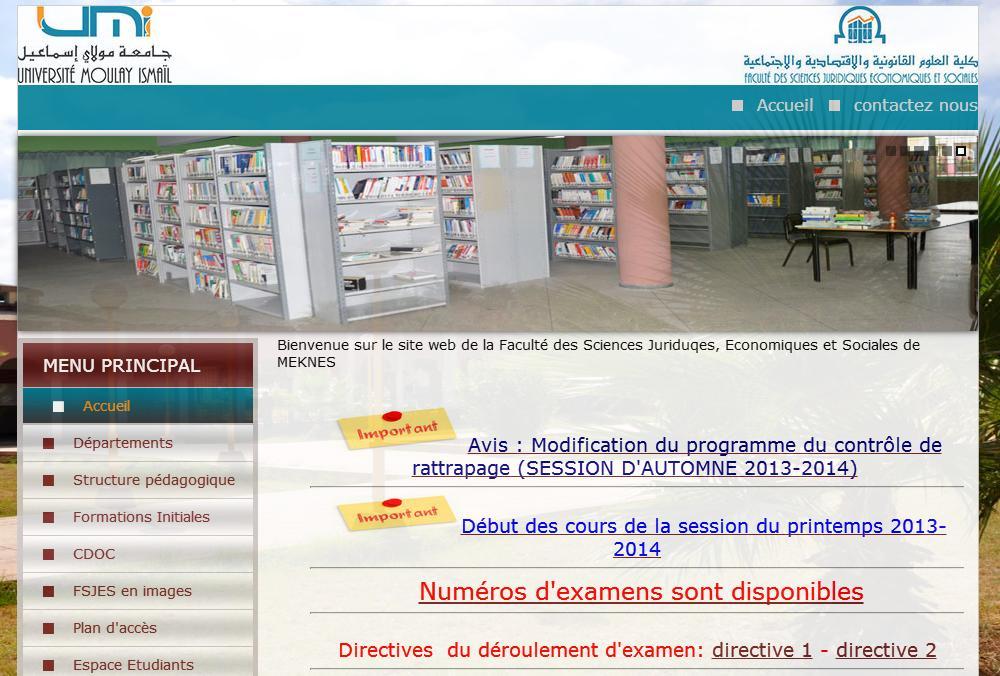 fsjes-umi.ac.ma Faculté des Sciences Juriduqes, Economiques et Sociales de Meknes Maroc master résultats cours bourse