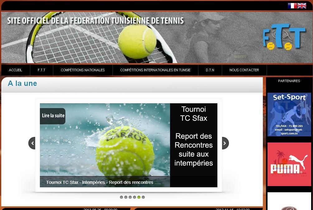 ftt.tn Fédération Tunisienne de Tennis . ftt.org.tn Ons Jaber Malek Jaziri Tunisie Tenis