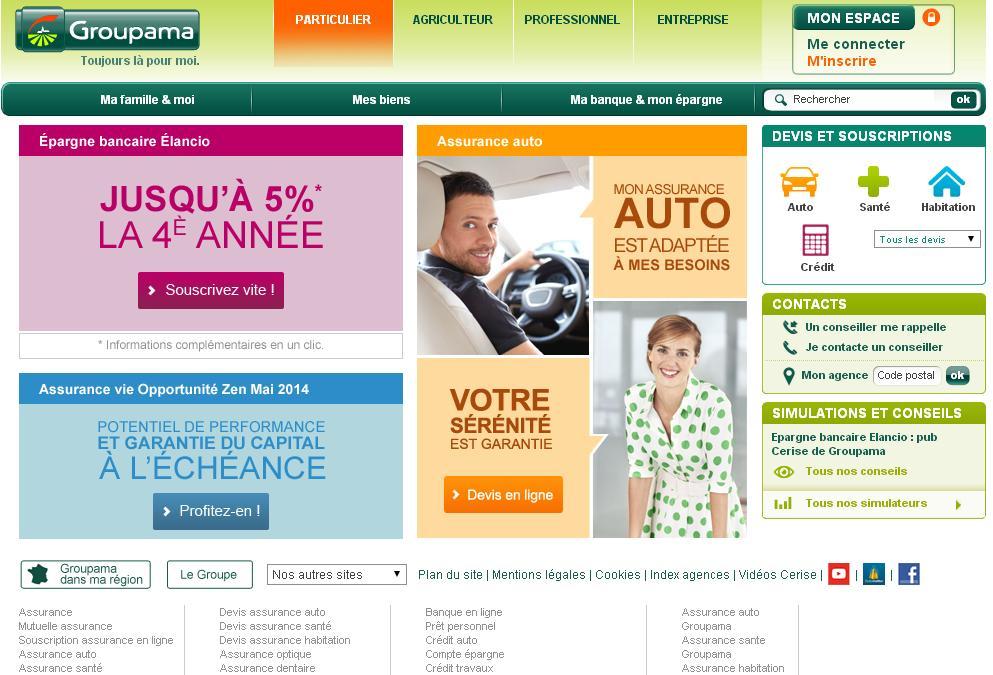groupama.fr Mutuelle d'Assurance crédit Auto Mutuelle Habitation Santé