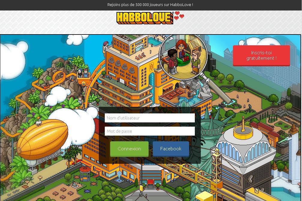 habbolove.fr Jeux Appartement Habbo Love Code Vip Créer ton avatar Staff jouer sur tablette