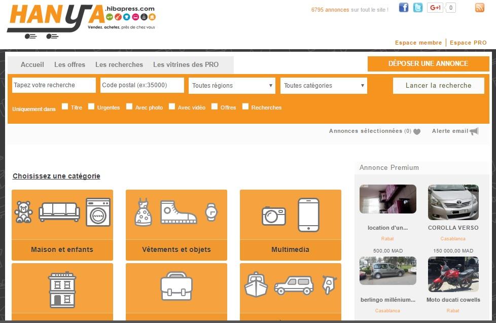 hanya.hibapress.com Annonces Hibapress Maroc voiture emploi immobilier ma
