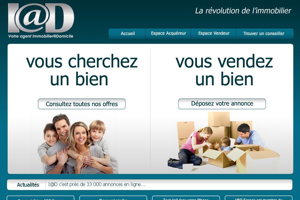 iadfrance.com Agence immobilière France Conseillers i@d location vente achat avis