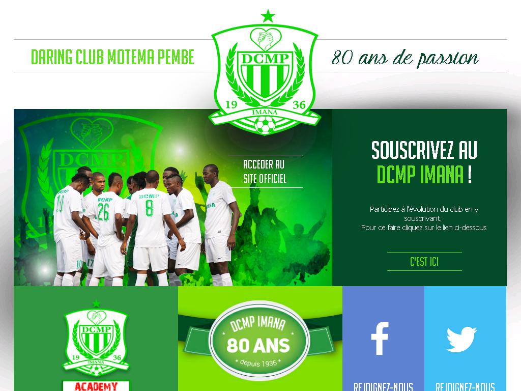 imana-dcmp.com Site Officiel du Daring Club Motema Pembe Imana à Kinshasa Congo DCMP