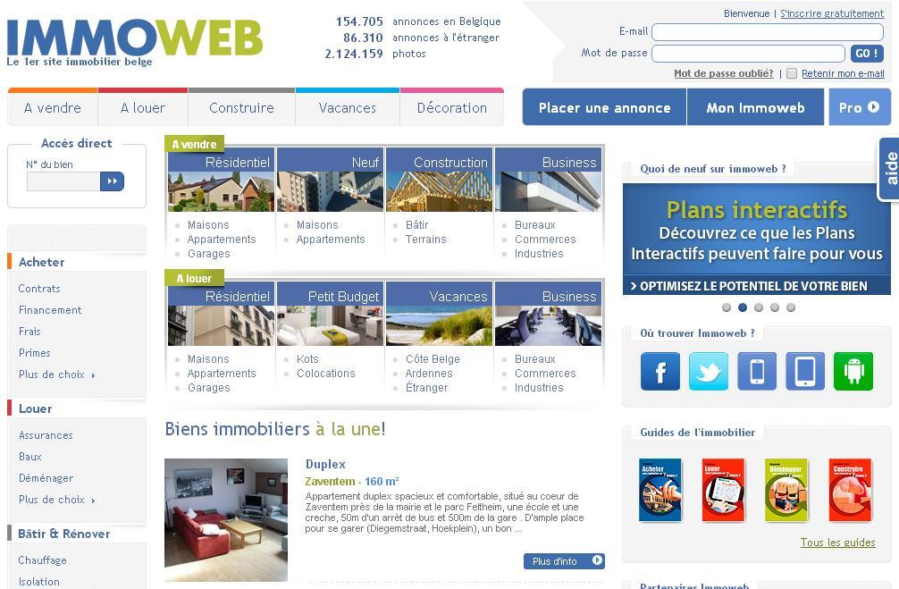immoweb annonces immobilier en belgique immo