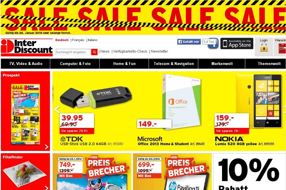 interdiscount.ch HighTech Français Catalogue Genève Signy la chaux de fonds Meyrin ps4 nyon Playstation4