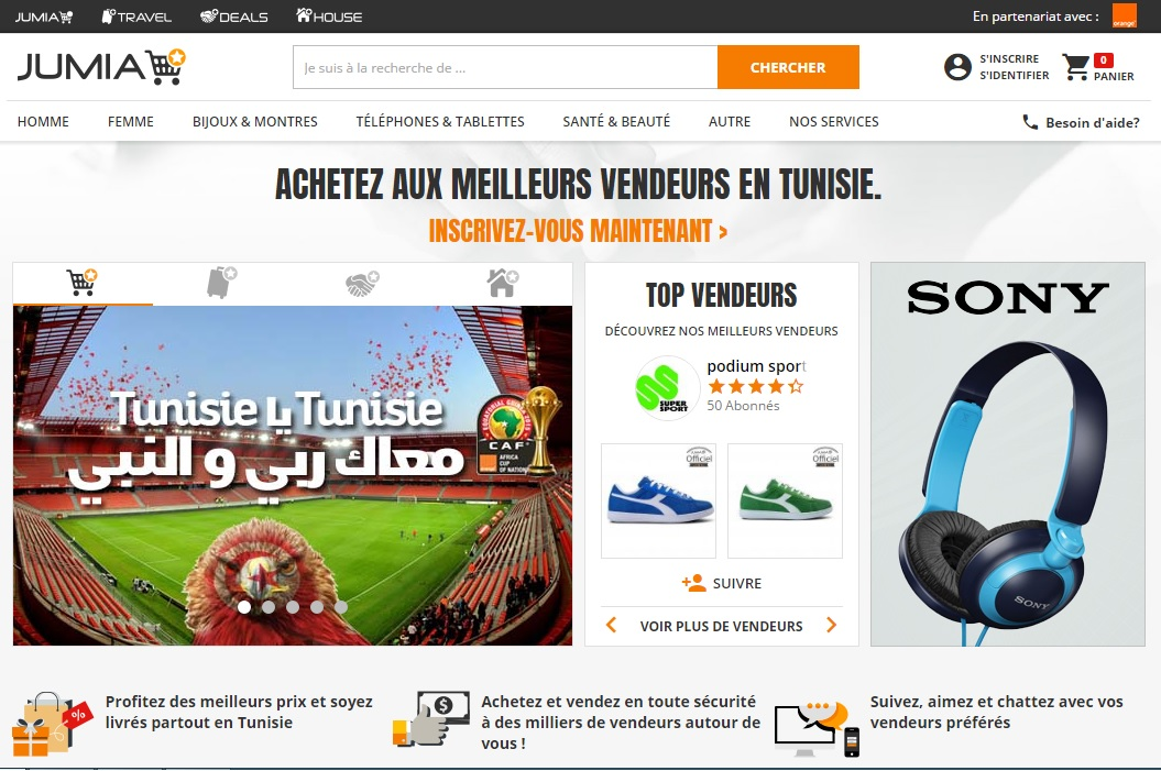 jumia.com.tn Jumia Market Tunisie Shopping house achat vente en ligne Tunisie Mall annonces shop adresse boutique