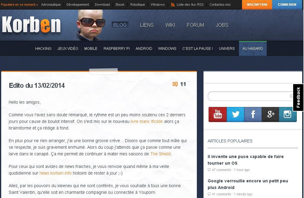 korben.info News info actualités informatique high tech wiki