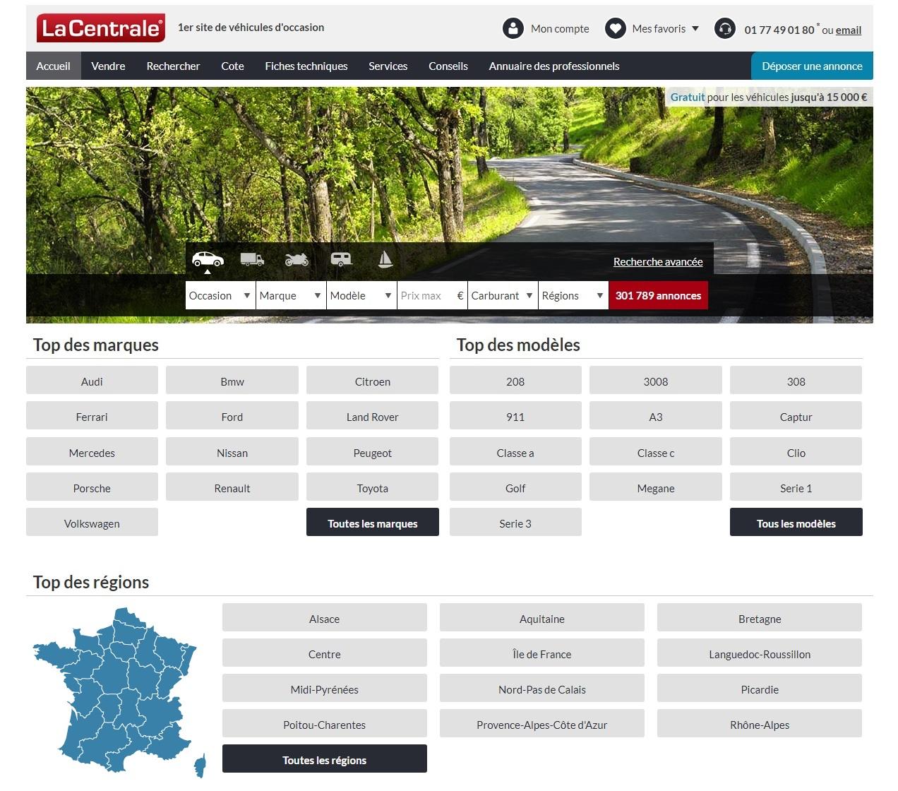 lacentrale.fr Auto occasion La Centrale Annonces Moto pro