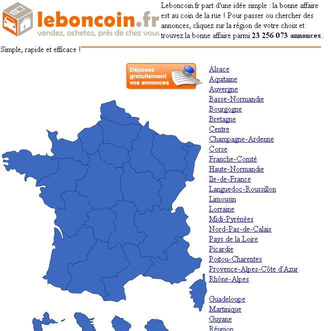 leboncoin.fr Annonces Gratuites France Mobile Auto immo Chiens à adopter Moto vendre achat