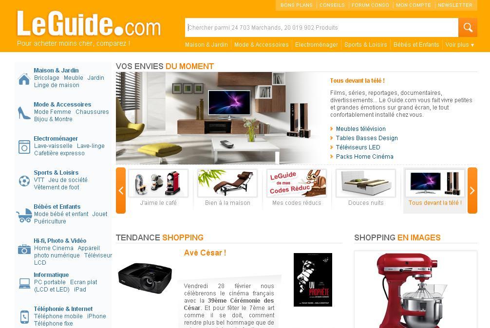 leguide.com Comparateur de prix en ligne promotions achat shopping