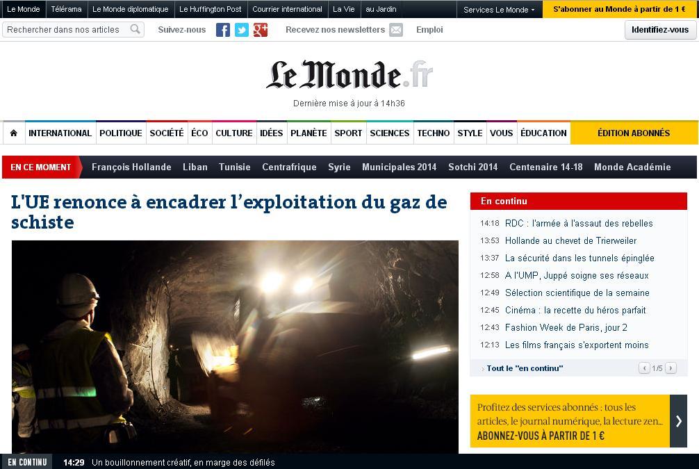 lemonde.fr Le Monde fr Actualité News Journal Diplomatiques international sport rss France