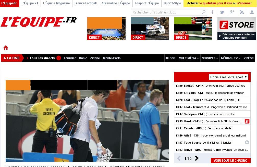 lequipe.fr L'Equipe Sport Football Match en direct résultats en ligne France
