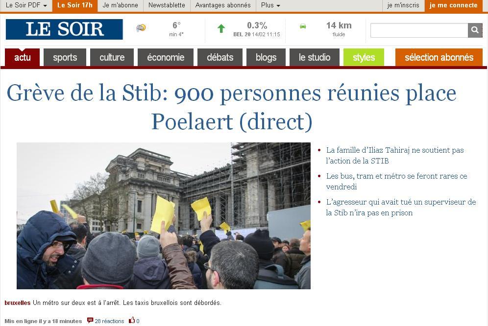 lesoir.be Quotidien Le Soir Belgique magazine be actualités