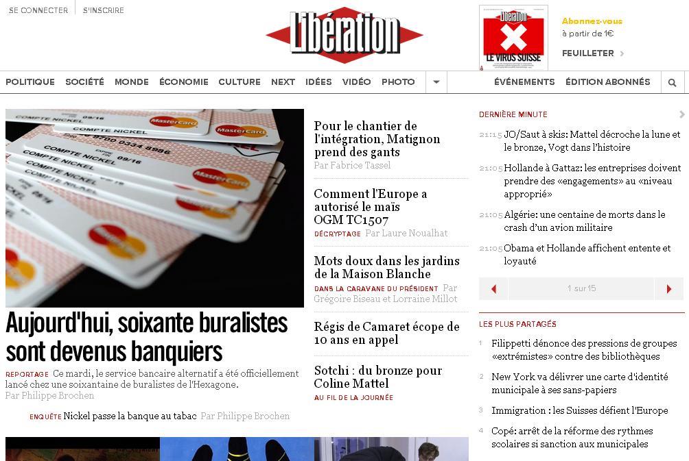 liberation.fr Quotidien Libération Journal Actualité en direct News Monde