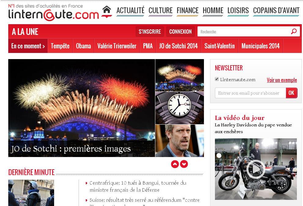 linternaute.com L'internaute Magazine France Horoscope cuisine recettes cartes emploi