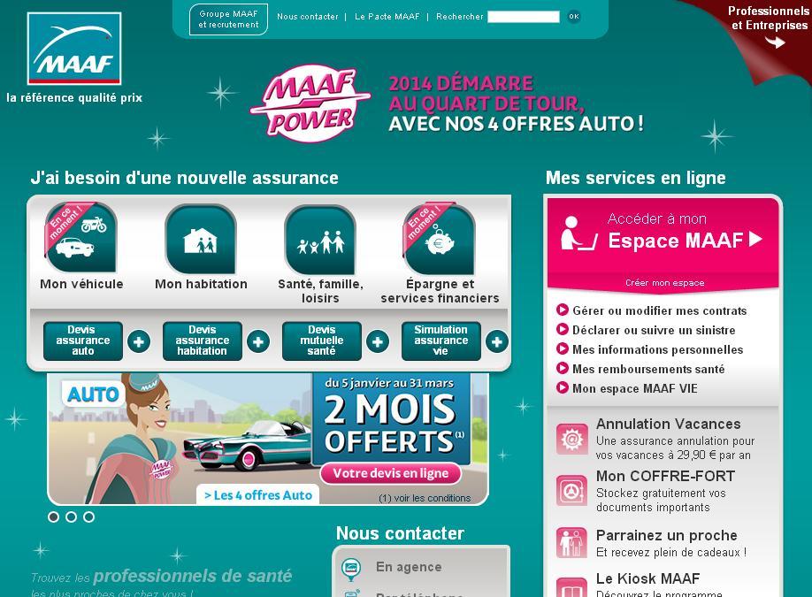 maaf.fr Assurances mutuelle assurance auto moto habitation santé Devis en ligne Maf