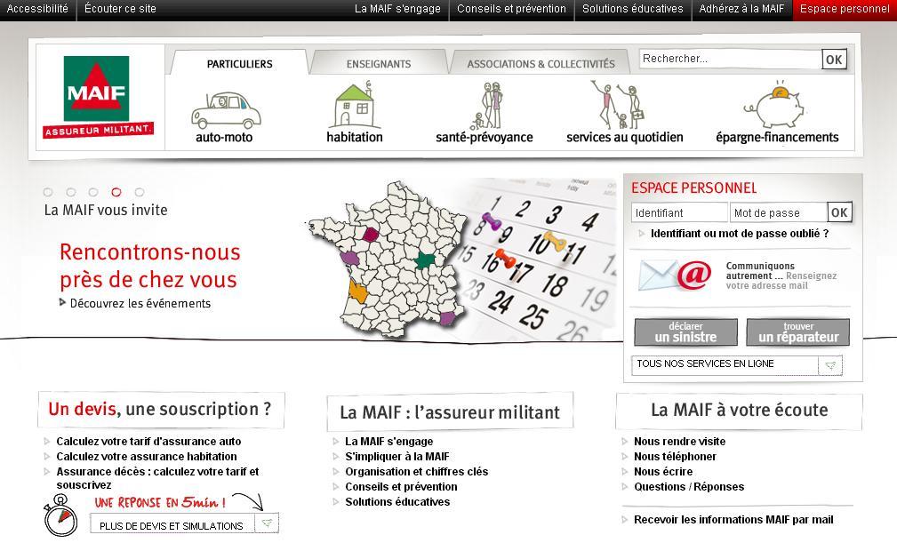 maif.fr Assurance auto habitation santé prévoyance devis en ligne mutualité