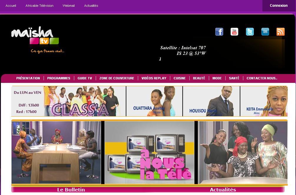 maishatv.com Chaine Tv Maisha tv mescudi Télévision Malienne femme au Africa programme en direct Skyrim