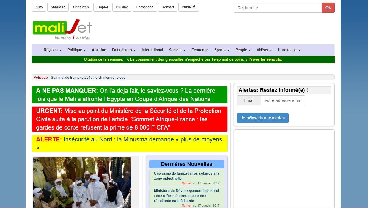 malijet.com Journal D'actualité Malienne En Ligne Mali Jet Kabako Bamako
