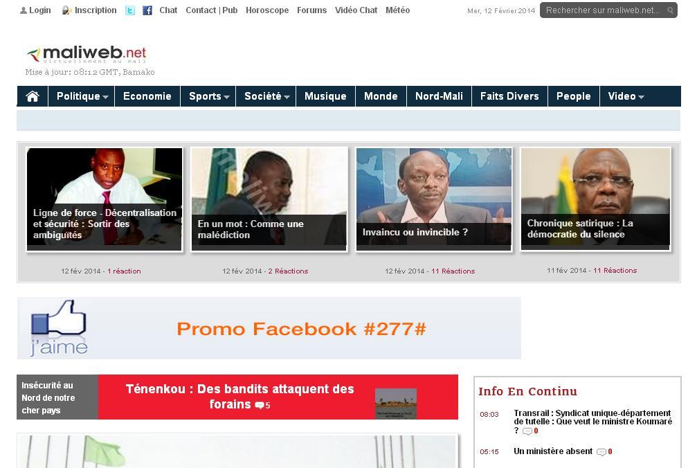 maliweb.net Journal Mali Web Actualités Kabako aujourd'hui du Mali fait divers jekafo rencontre