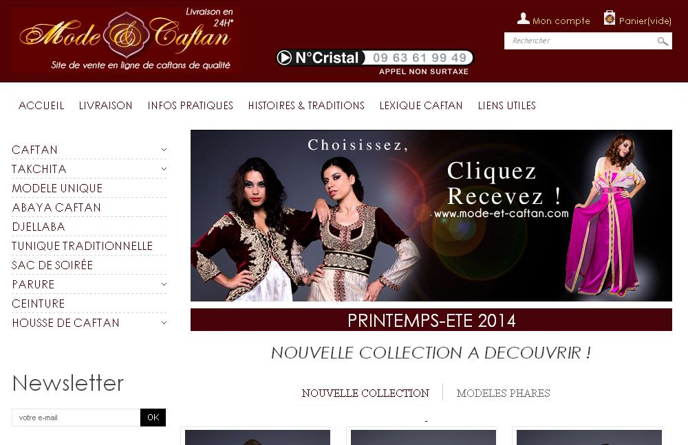 mode-et-caftan.com Mode et Caftan rifia Marocain haute couture moderne maghribi takchita djallaba en vente en ligne
