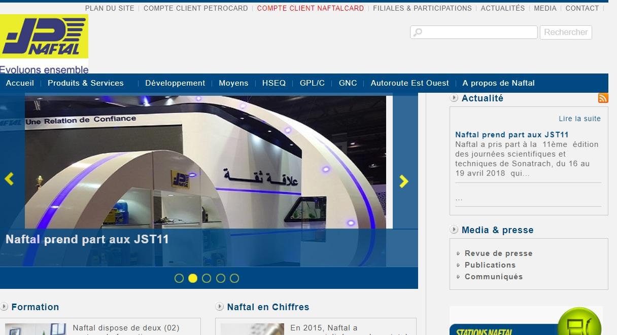naftal.dz  Naftal Algérie distribution et la commercialisation des produits pétroliers et carburant Cheraga Naf Tal
