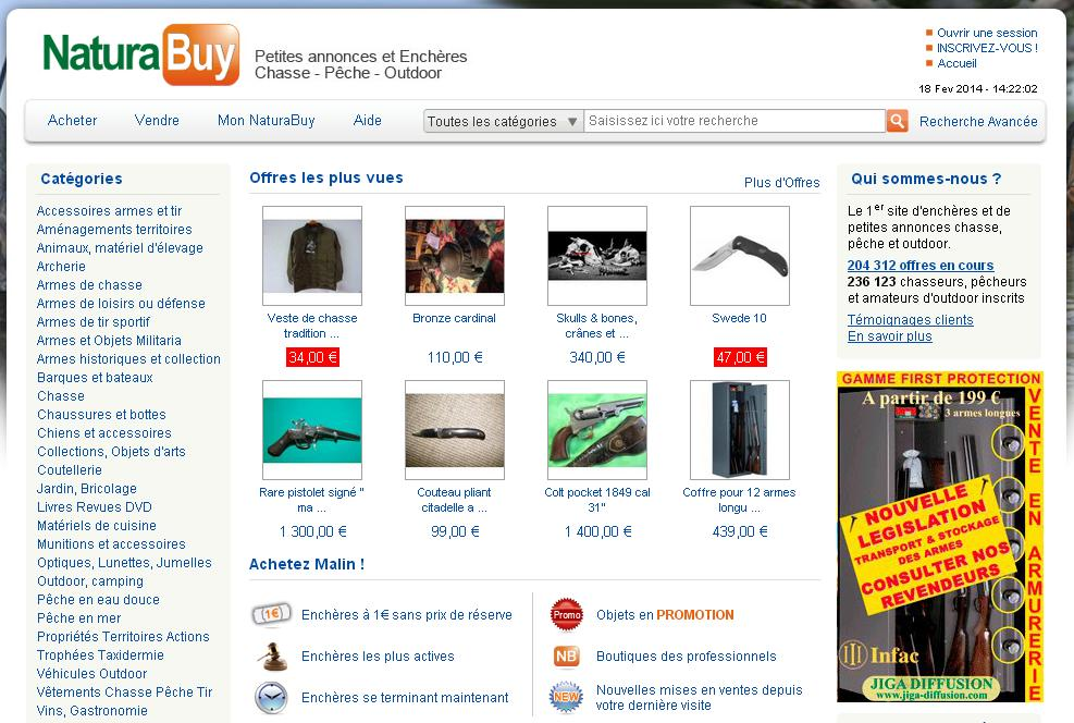 naturabuy.fr Chasse pêche Buy Nature petites annonces fusil occasion canne