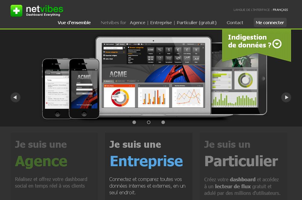 netvibes.com Plate Forme de renseignement Net vibes Android ipad courteline France tutoriel sfbd