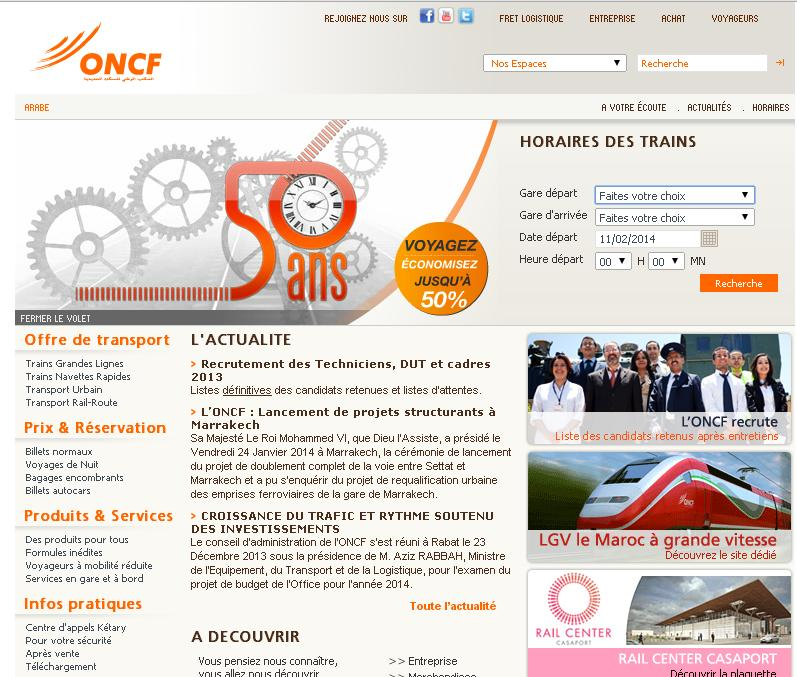 oncf.ma Office National des Chemins de Fer Maroc