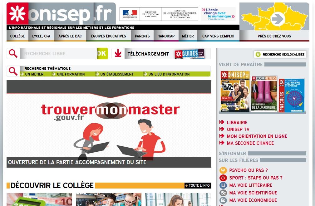 onisep.fr Office national enseignements et professions France Post bac Orientation apb fiche quiz Métiers Picardie