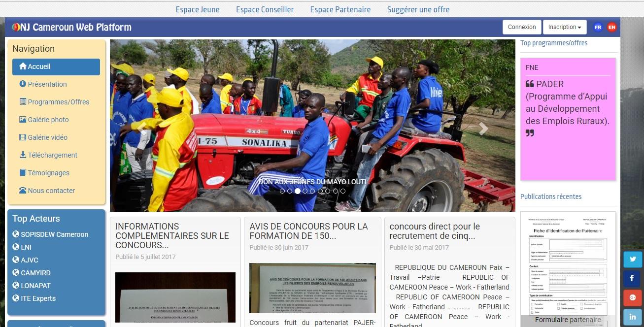 onjcameroun.cm Observatoire National de la Jeunesse du Cameroun Onj Cameroon inscription