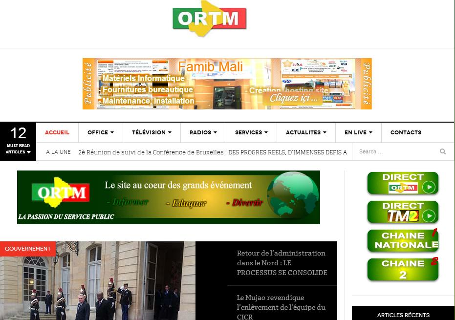 ortm.ml Chaine Ortm Tv en direct fréquence programme live Replay journal 20h Live