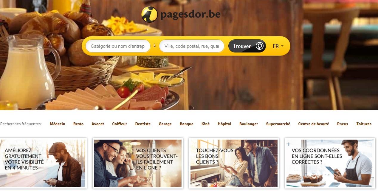 pagesdor.be Pages d'or Belgique pages blanches annuaire inversé téléphone et GSM