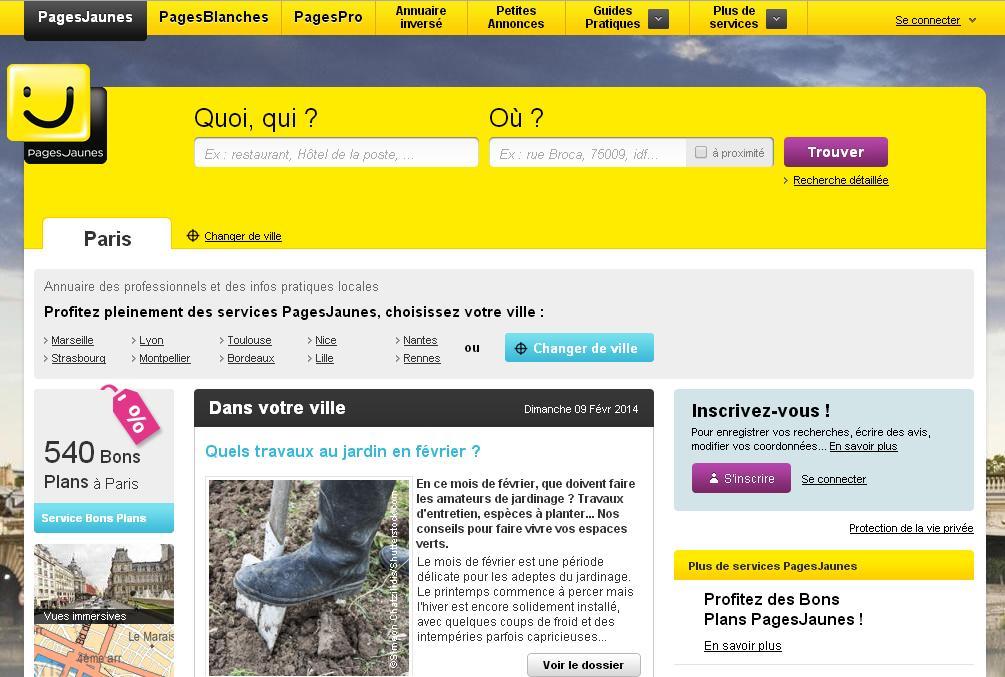 pagesjaunes.fr Pages Jaunes Françaises Annuaire professionnels Business adresses Blanches Numéros de téléphones