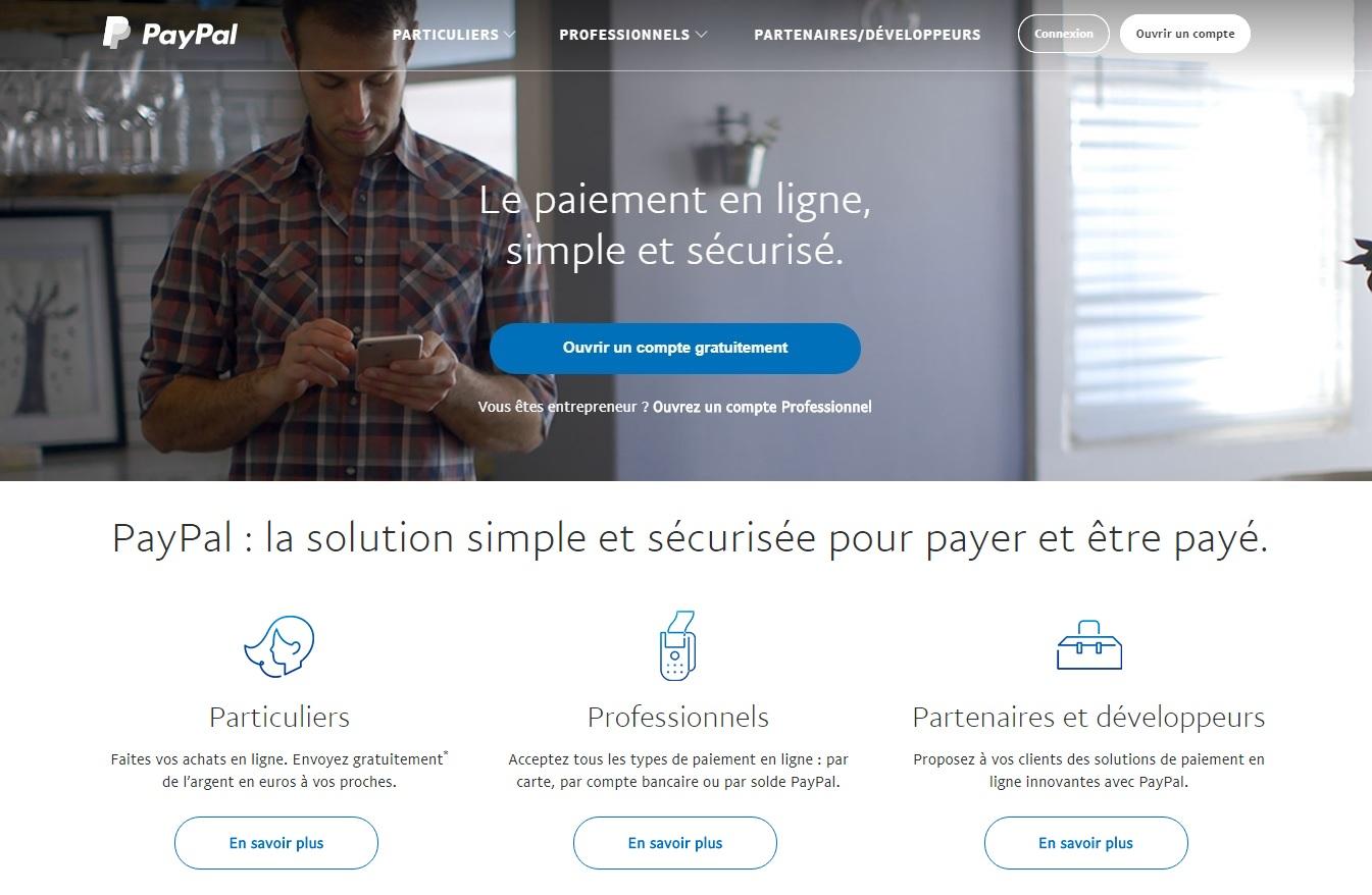 paypal.fr Mon compte Paypal français paiement gratuit frais et avis France