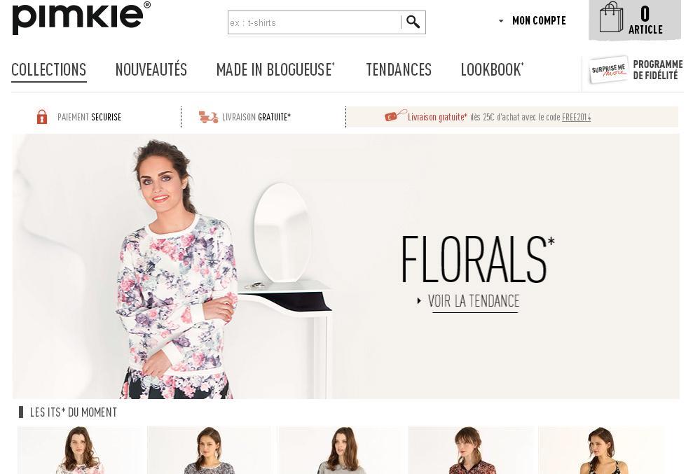 pimkie.fr Vêtements femme Paris Soldes ms mode grossiste en ligne manteau pull robe sac