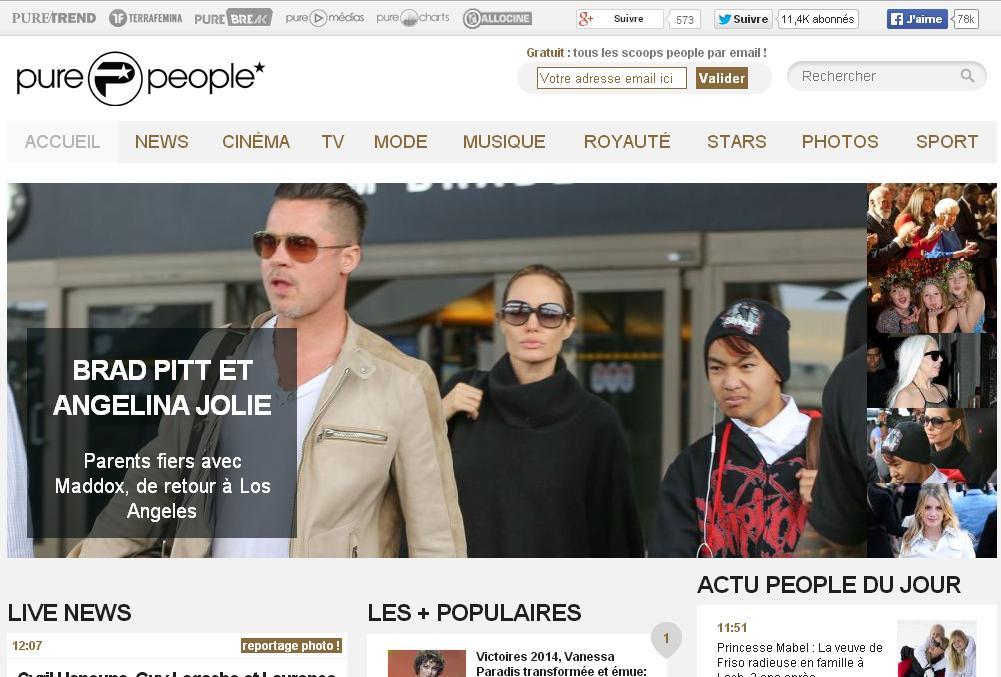 purepeople.com News Pure People et actu info stars célébrités secret story