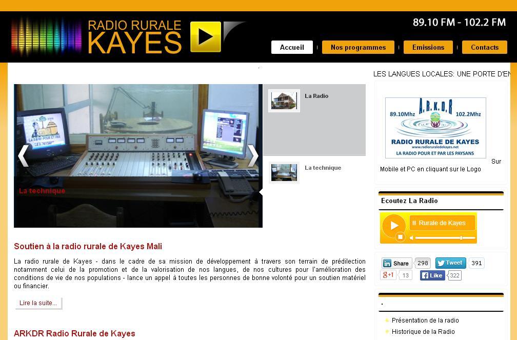 radioruraledekayes.net Radio rurale de kayes au mali en direct écouter en Live net