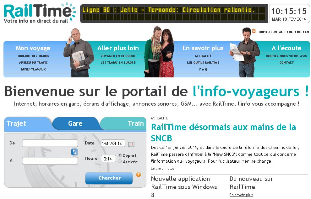 railtime.be Sncb train Belgique nmbs horaires tec real time tarif perturbation greve