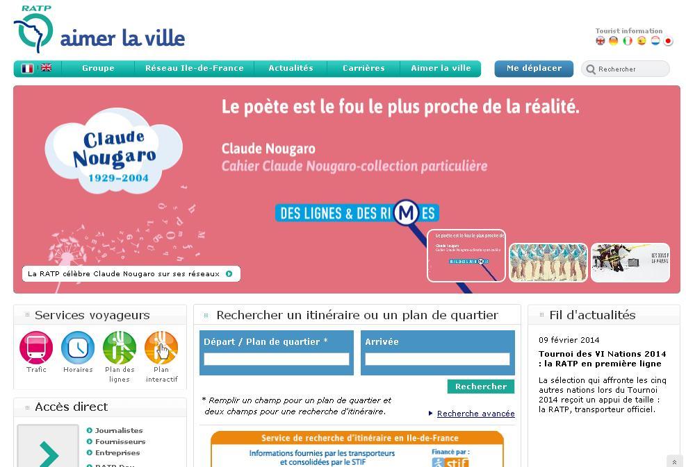 ratp.fr Autobus Horaires Itinéraire Mutuelle Tarif Plan Cartes Trafic