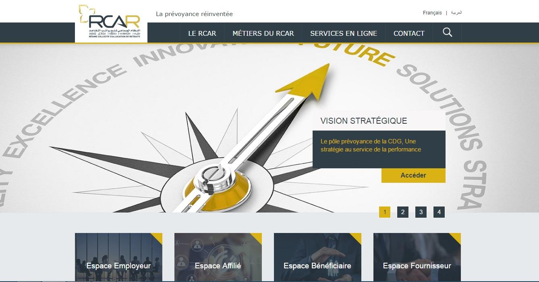 rcar.ma Régime Collectif D'Allocation Fonds De Retraite au Maroc Rcar Simulation Ocp Espace Bénéficiaire Espace Affilié