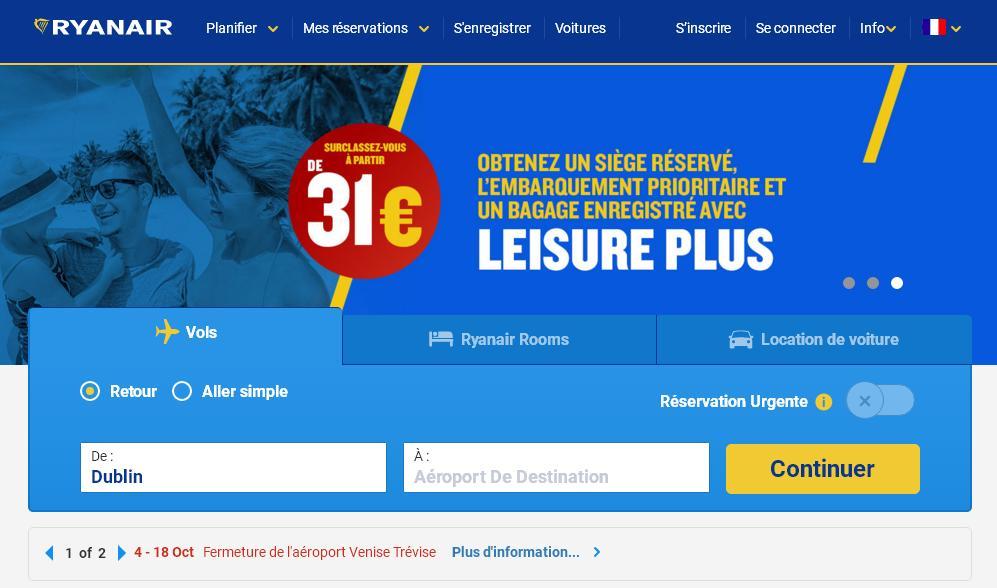 ryanair.com Tours à bas prix vols cheap with Ryan air destination avis contact bagage cabine france maroc Dublin téléphone
